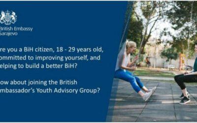 Poziv za prijave: Omladinska savjetodavna grupa britanskog ambasadora u BiH