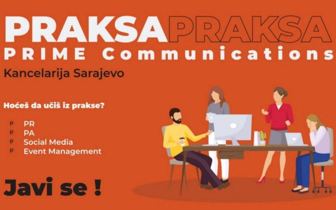 Prilika za praksu: PRIME Communications