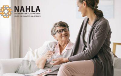 """Edukacijski centar """"Nahla"""" Tuzla realizuje besplatnu obuku za njegovateljicu"""