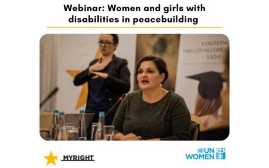 Webinar: Žene i djevojke s invaliditetom u procesu izgradnje mira